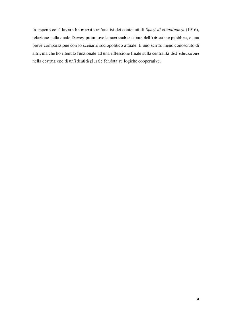 Anteprima della tesi: Educazione, scuola e progresso sociale nel pensiero pedagogico di John Dewey, Pagina 3