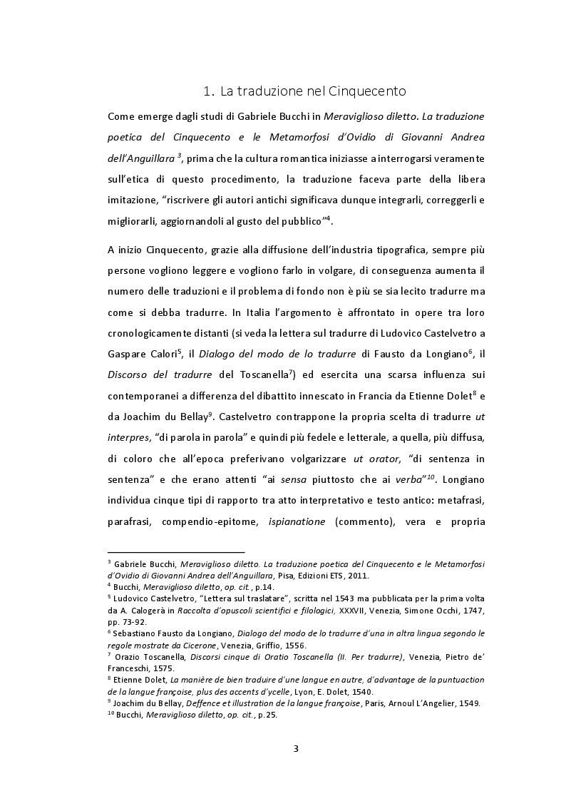 Anteprima della tesi: Tradurre il primo libro dell'Odissea nel Rinascimento: qualche esempio tra Italia e Francia, Pagina 4