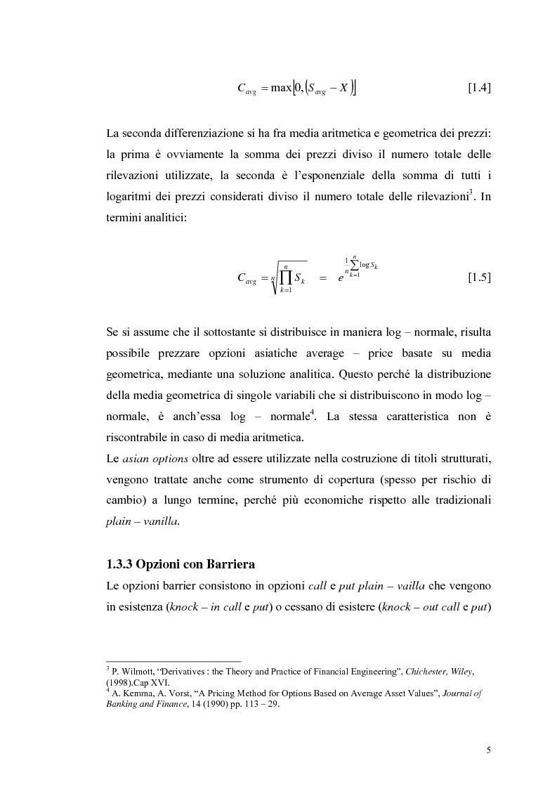 Anteprima della tesi: L'analisi del profilo di rischio ed il pricing di un titolo index-linked attraverso la simulazione Monte Carlo, Pagina 5