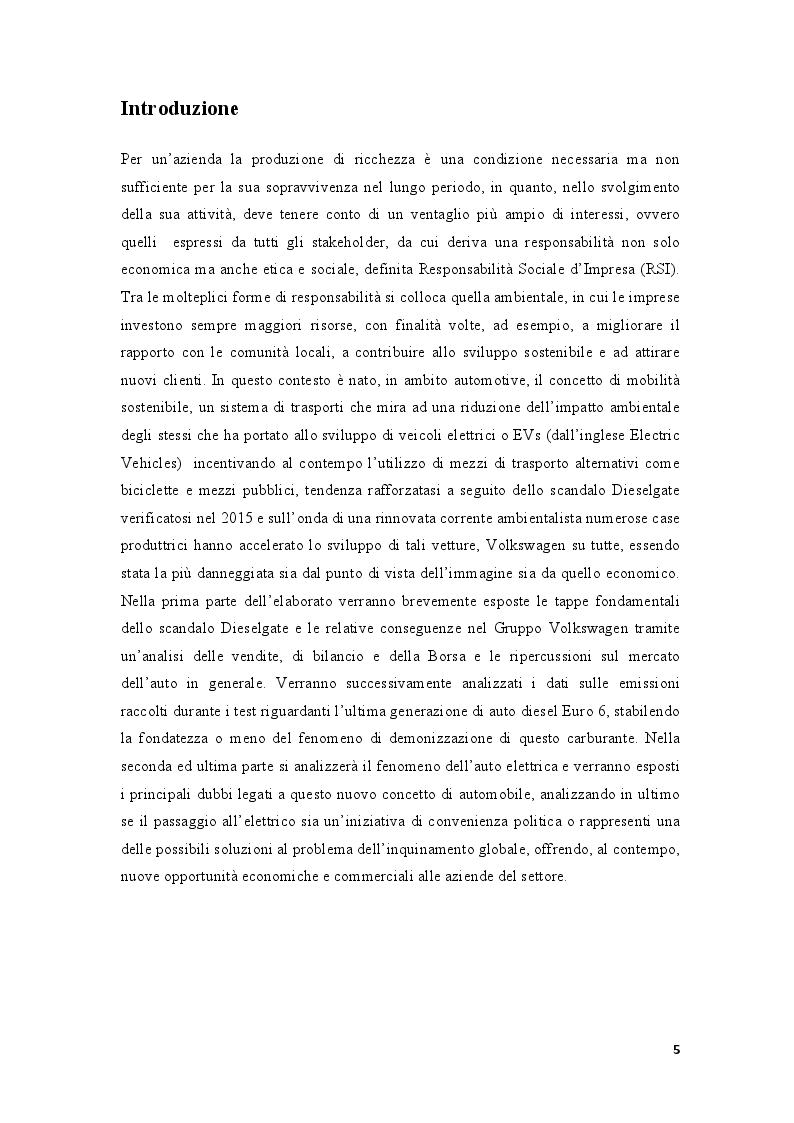 """Anteprima della tesi: La demonizzazione del diesel e la """"scommessa"""" sull'elettrico: convenienza politica o ambientale?, Pagina 2"""