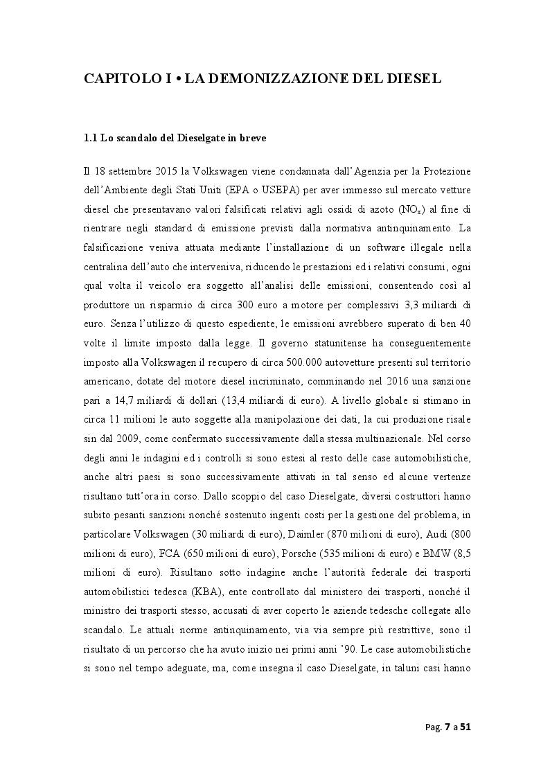 """Anteprima della tesi: La demonizzazione del diesel e la """"scommessa"""" sull'elettrico: convenienza politica o ambientale?, Pagina 3"""