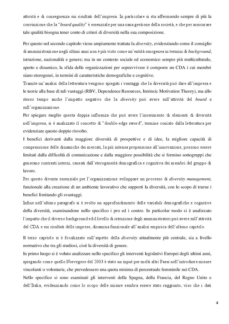 Anteprima della tesi: La Diversity nel Board: analisi dell'impatto sulla performance aziendale nella Zona Euro, Pagina 4