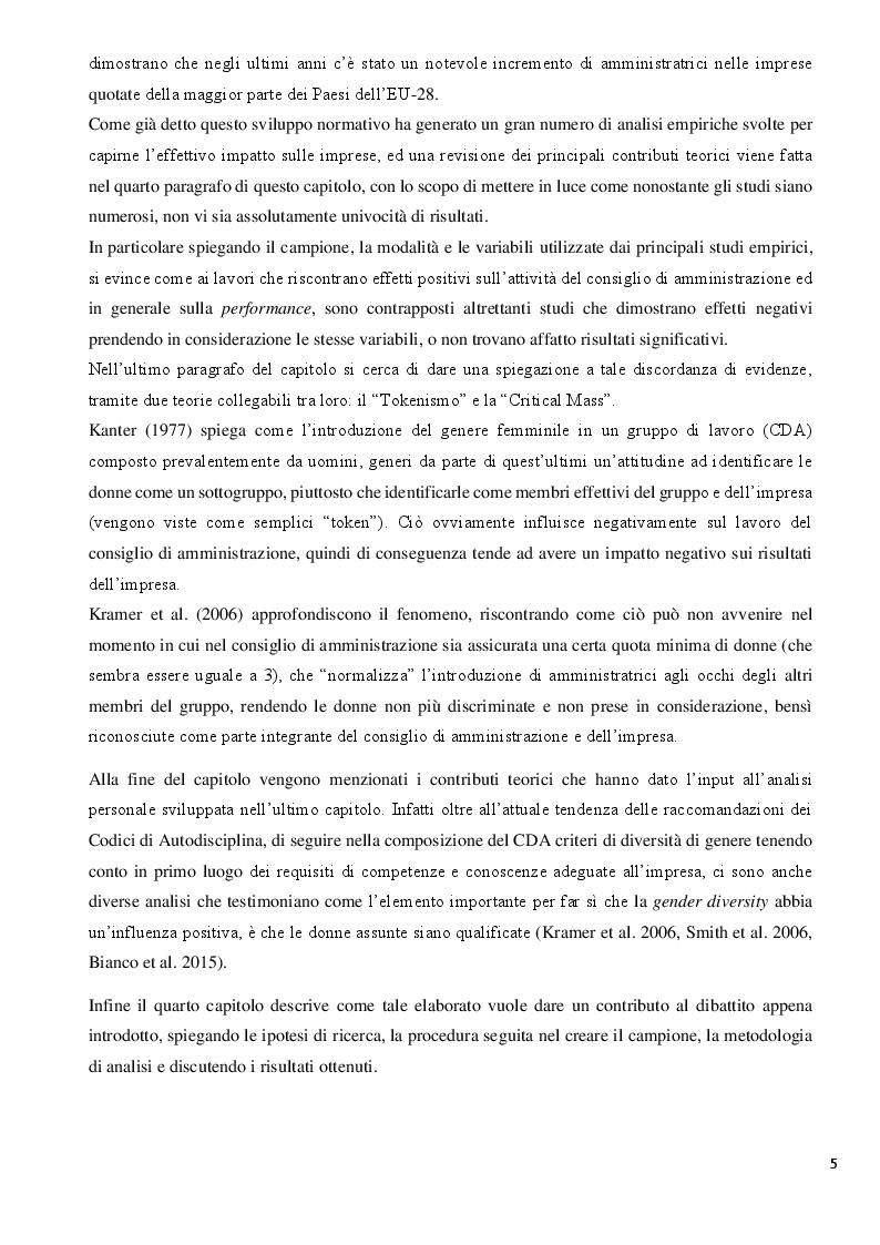 Anteprima della tesi: La Diversity nel Board: analisi dell'impatto sulla performance aziendale nella Zona Euro, Pagina 5