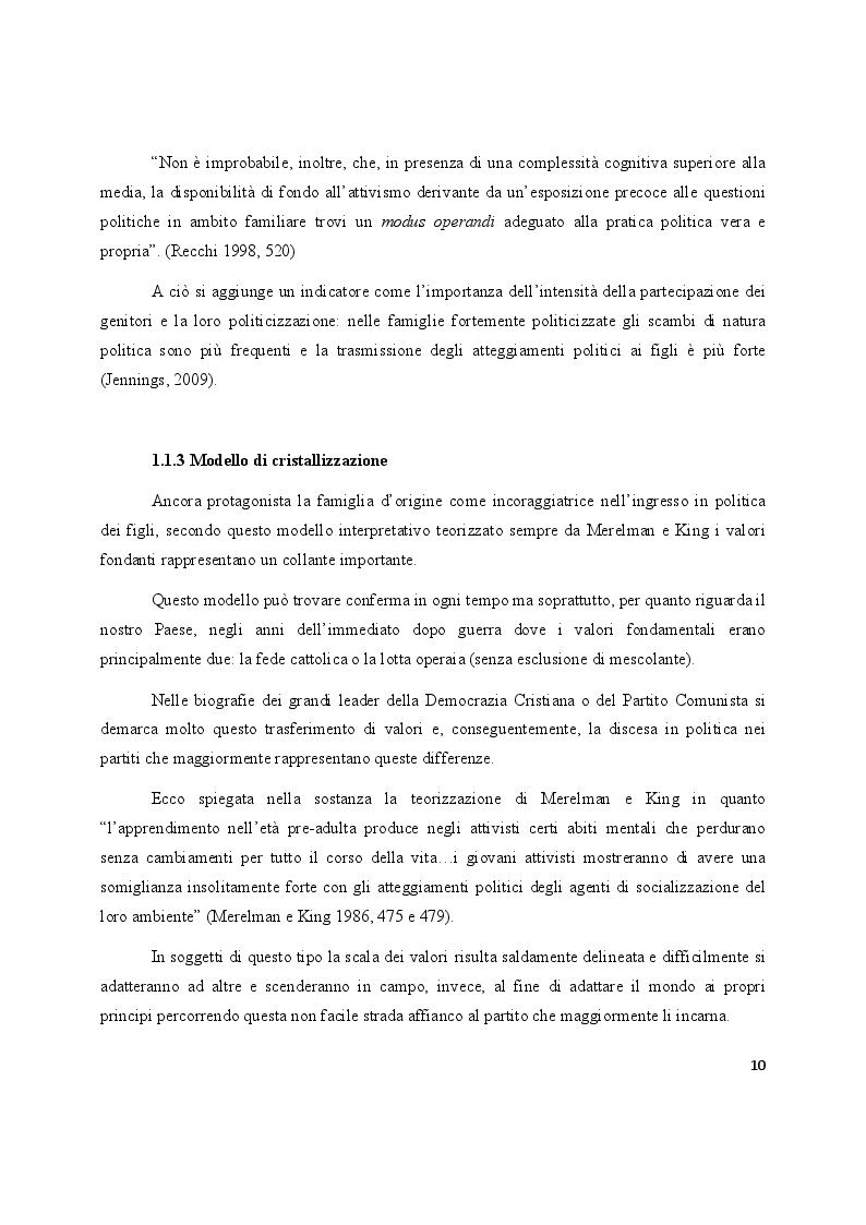Anteprima della tesi: La partecipazione politica dei giovani. Un'indagine qualitativa su esperienze e motivazioni, Pagina 4