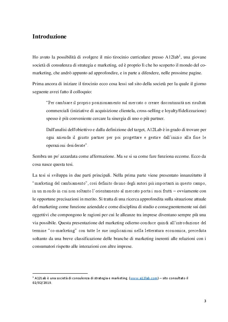 Anteprima della tesi: Il co-marketing: metodologia del marketing del cambiamento, Pagina 2