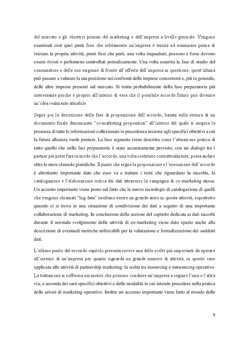 Anteprima della tesi: Il co-marketing: metodologia del marketing del cambiamento, Pagina 4