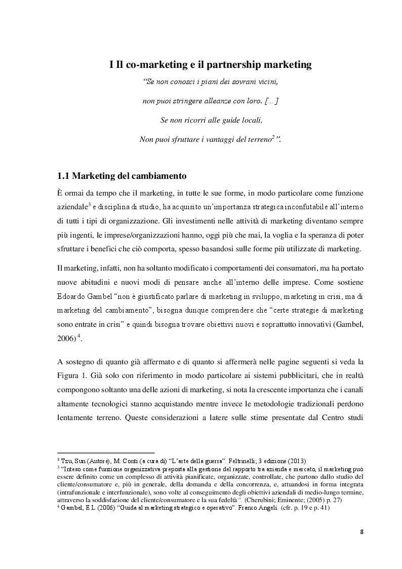 Anteprima della tesi: Il co-marketing: metodologia del marketing del cambiamento, Pagina 7
