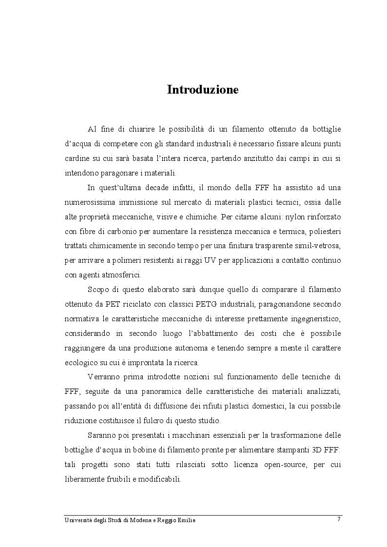 Anteprima della tesi: Filamento in PET riciclato: produzione, analisi ed utilizzo in stampanti 3D FFF, Pagina 4
