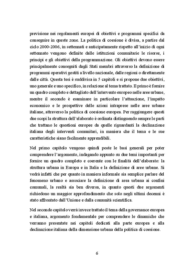 Anteprima della tesi: La politica di coesione europea per le aree urbane: attuazione, impatto e prospettive, Pagina 3