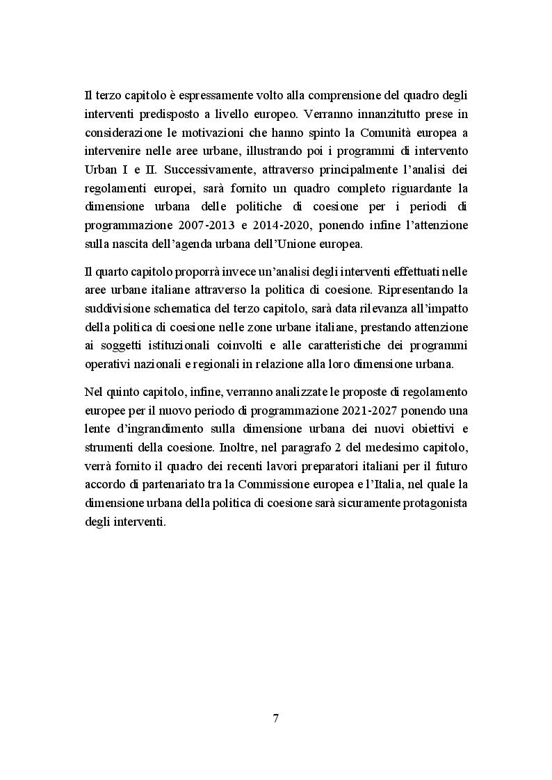 Anteprima della tesi: La politica di coesione europea per le aree urbane: attuazione, impatto e prospettive, Pagina 4