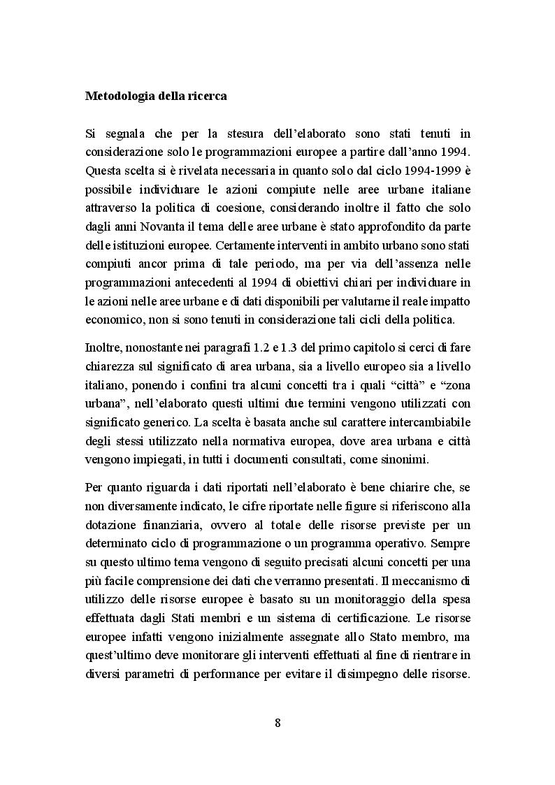 Anteprima della tesi: La politica di coesione europea per le aree urbane: attuazione, impatto e prospettive, Pagina 5