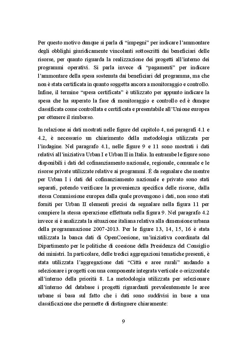 Anteprima della tesi: La politica di coesione europea per le aree urbane: attuazione, impatto e prospettive, Pagina 6