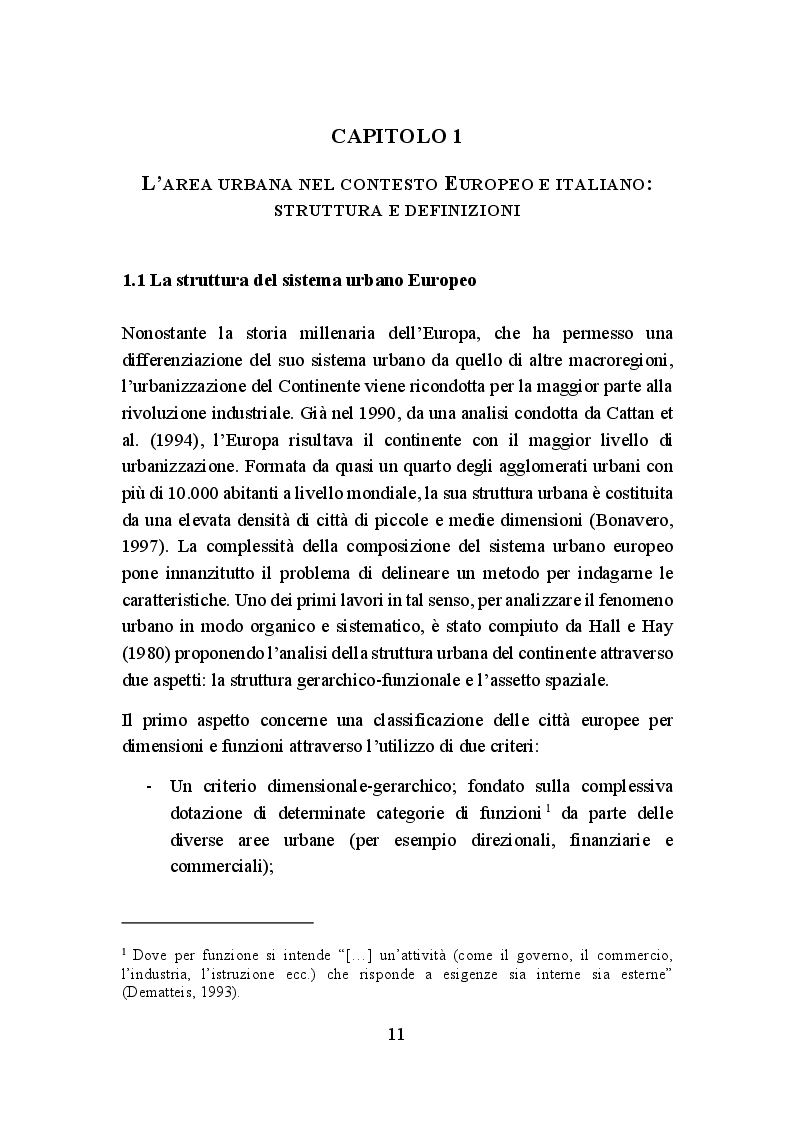 Anteprima della tesi: La politica di coesione europea per le aree urbane: attuazione, impatto e prospettive, Pagina 8
