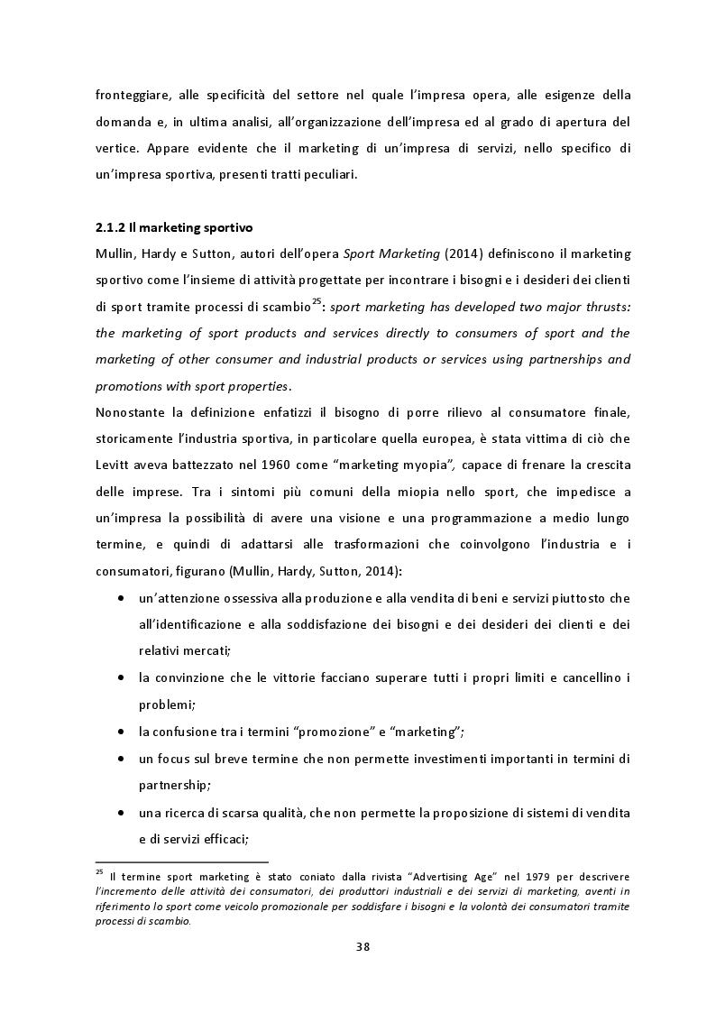 Anteprima della tesi: Prospettive di crescita del Campionato di SuperLega. La necessità di un percorso virtuoso a tre protagonisti: pubblico, società e Lega Pallavolo Serie A, Pagina 5