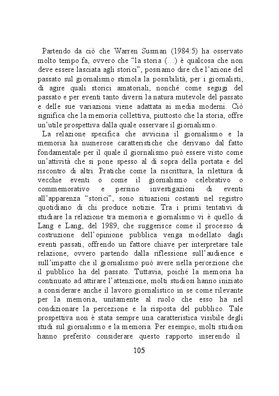 Anteprima della tesi: Carta stampata e memoria pubblica. Analisi delle stragi che hanno cambiato il mondo, Pagina 5