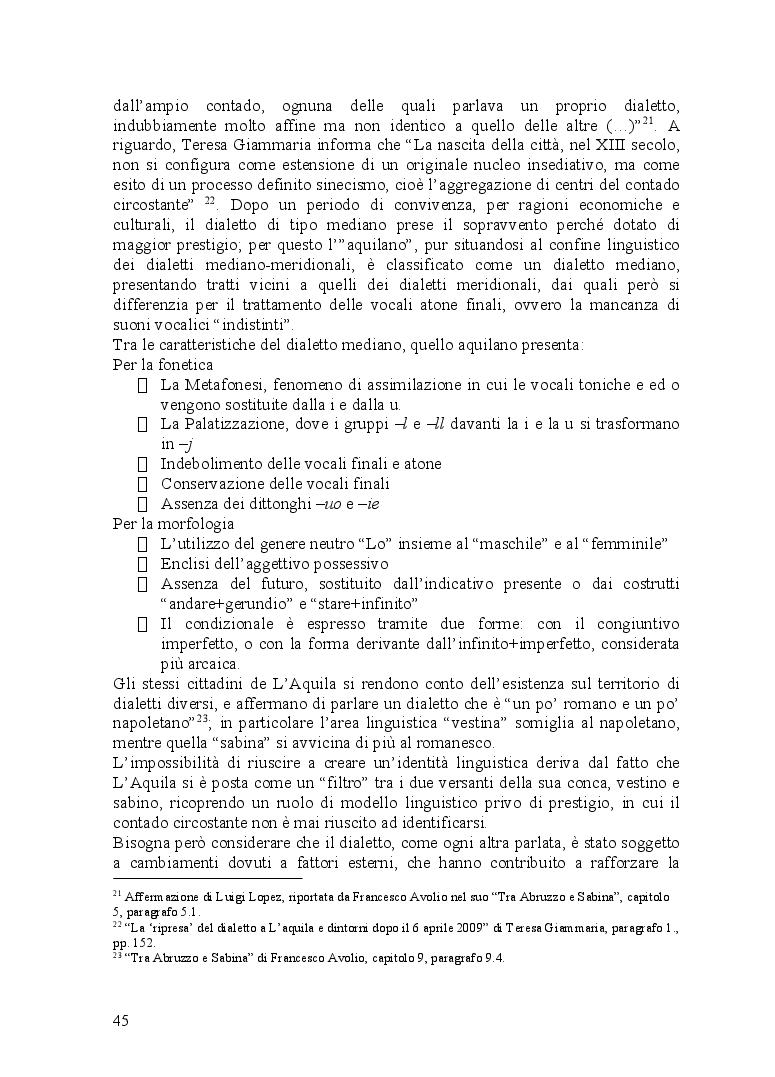 Anteprima della tesi: Ventitré secondi. I riflessi di una catastrofe naturale sul linguaggio di una comunità locale, Pagina 3
