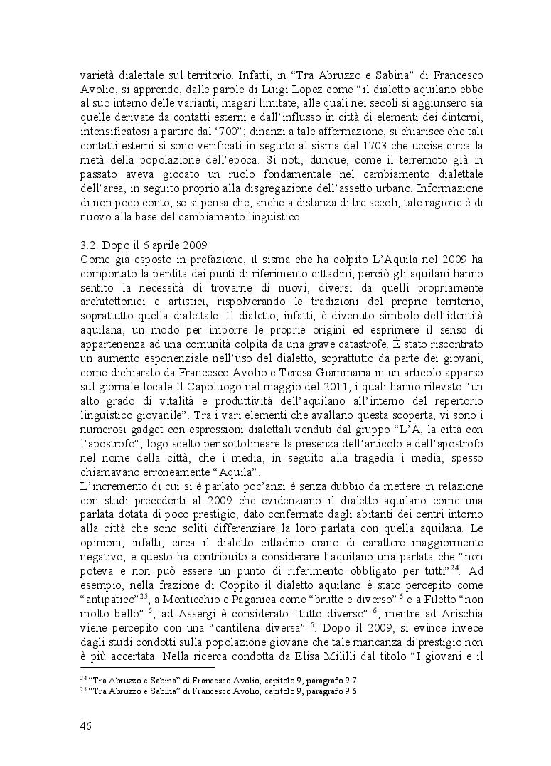 Anteprima della tesi: Ventitré secondi. I riflessi di una catastrofe naturale sul linguaggio di una comunità locale, Pagina 4