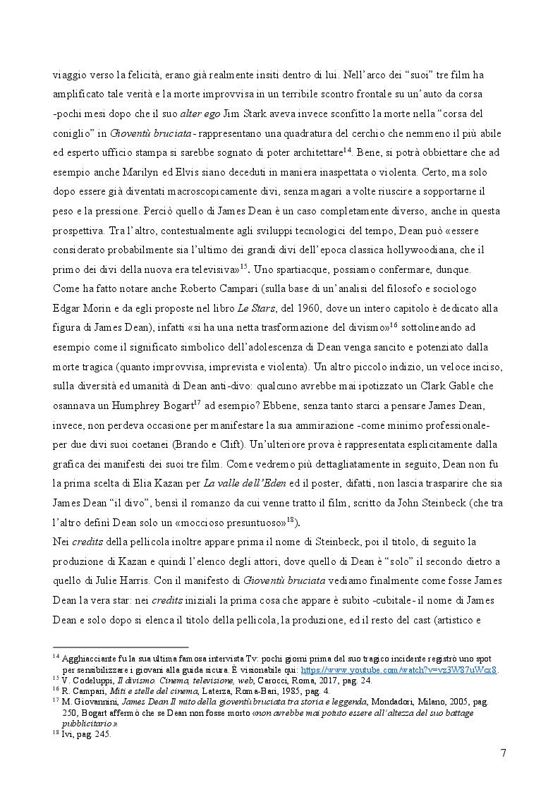Estratto dalla tesi: James Dean: l'uomo, l'attore, il divo