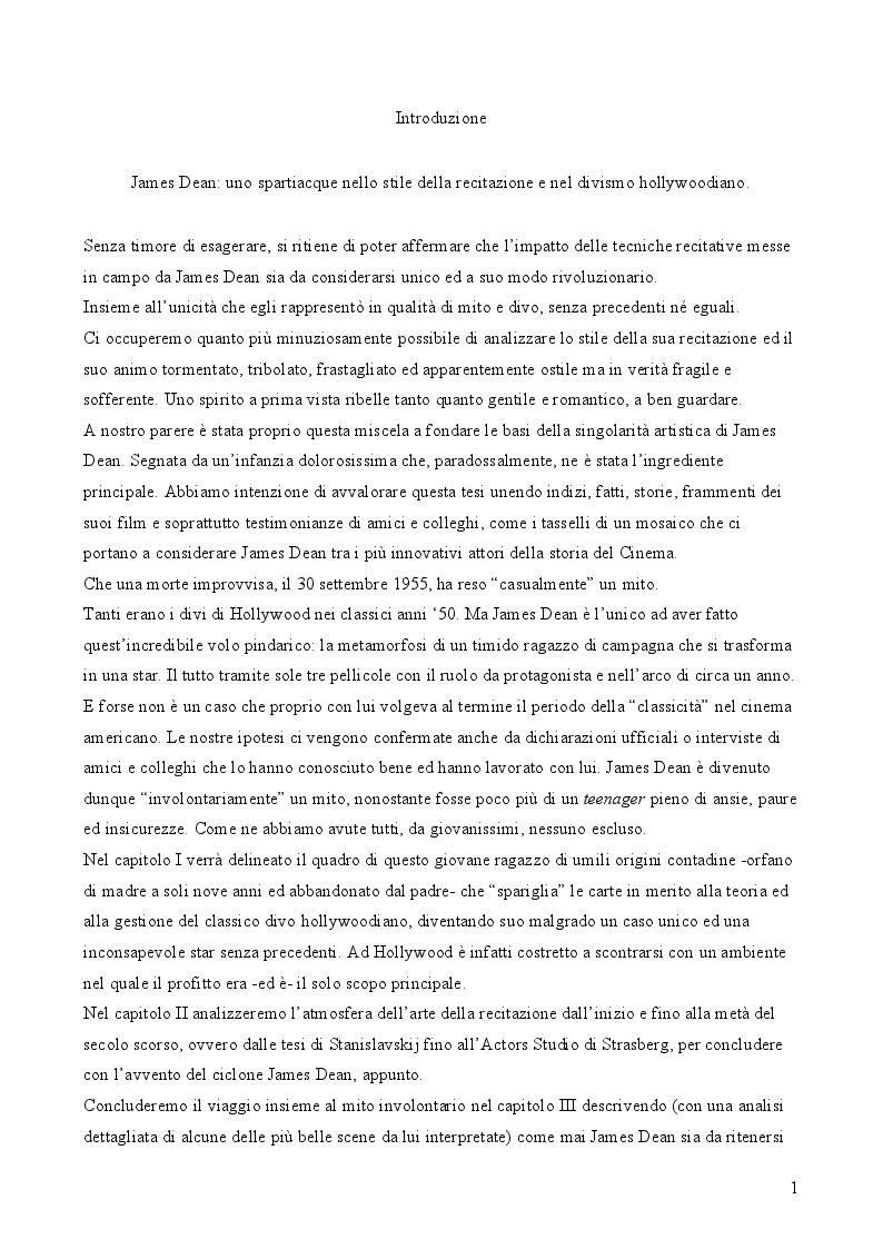 Anteprima della tesi: James Dean: l'uomo, l'attore, il divo, Pagina 3