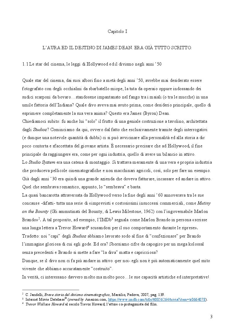 Anteprima della tesi: James Dean: l'uomo, l'attore, il divo, Pagina 5