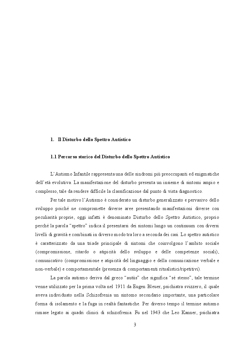 Anteprima della tesi: Il Disturbo dello Spettro Autistico: comunicare nell'incomunicabilità attraverso le immagini, Pagina 2
