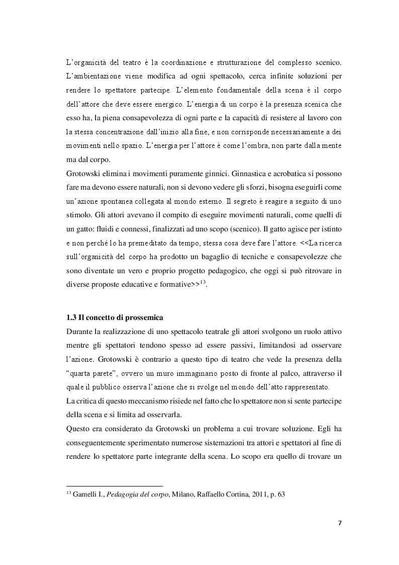 Estratto dalla tesi: Attori e atleti: una comparazione tra l'allenamento fisico di J. Grotowski e quello sportivo
