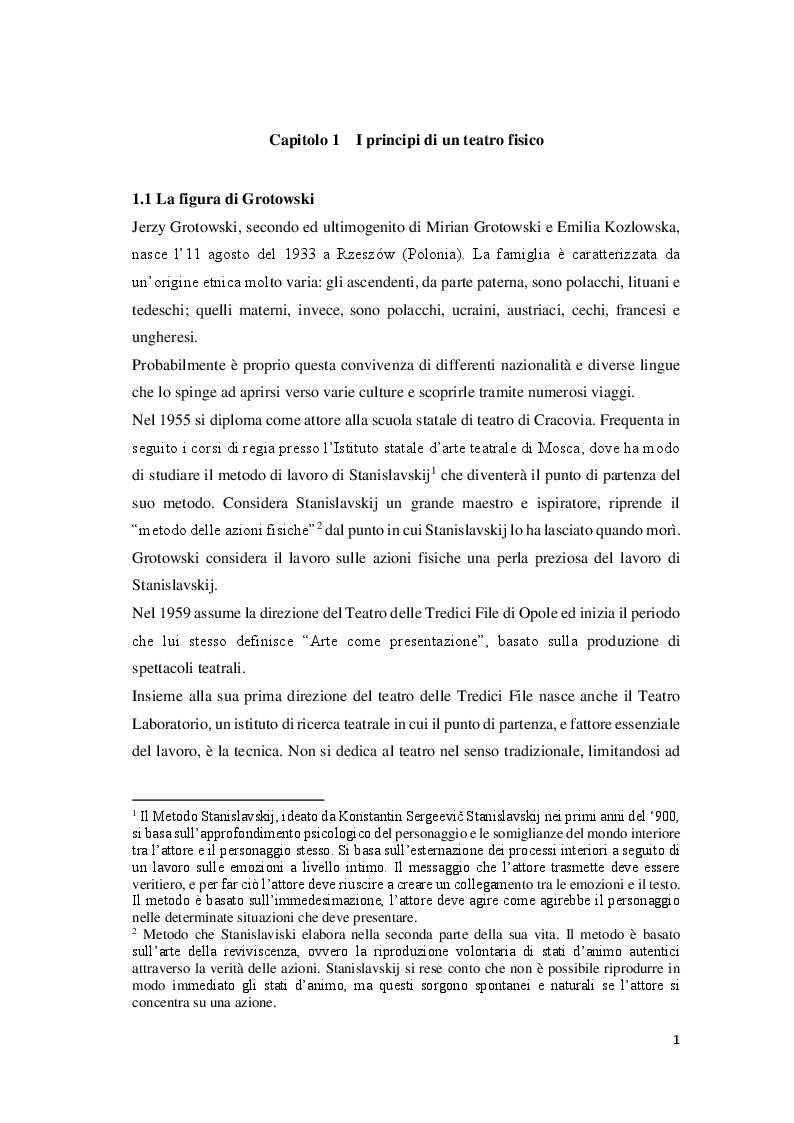 Anteprima della tesi: Attori e atleti: una comparazione tra l'allenamento fisico di J. Grotowski e quello sportivo, Pagina 6