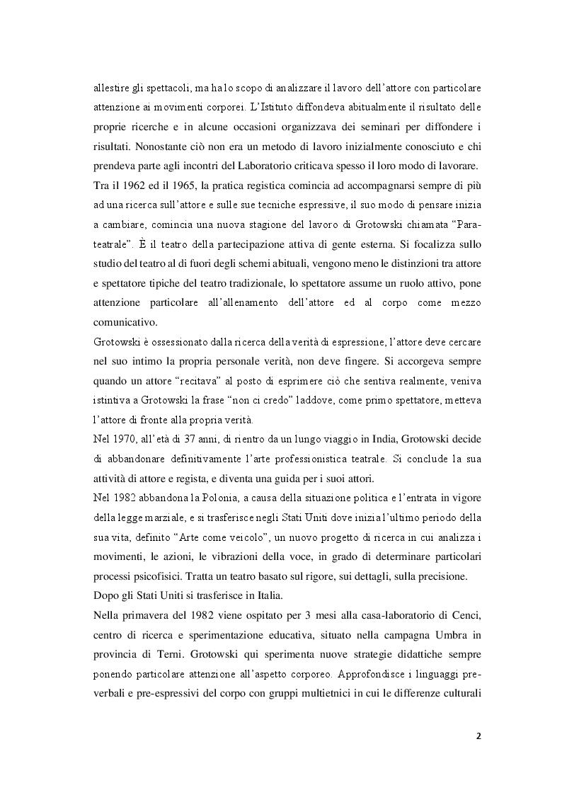 Anteprima della tesi: Attori e atleti: una comparazione tra l'allenamento fisico di J. Grotowski e quello sportivo, Pagina 7