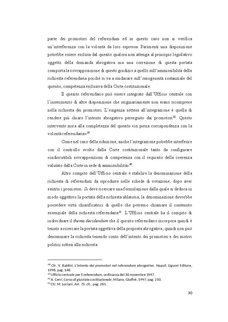Anteprima della tesi: Il controllo sull'ammissibilità del referendum abrogativo e il rischio di un giudizio anticipato di legittimità costituzionale, Pagina 10
