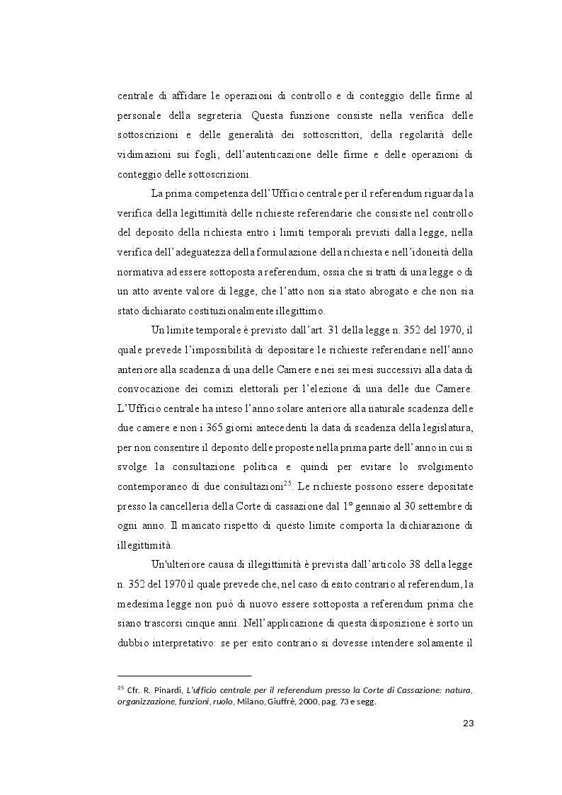 Anteprima della tesi: Il controllo sull'ammissibilità del referendum abrogativo e il rischio di un giudizio anticipato di legittimità costituzionale, Pagina 3