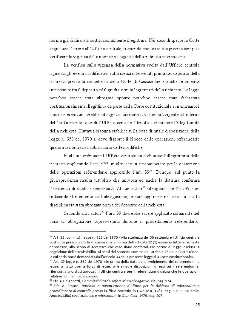 Anteprima della tesi: Il controllo sull'ammissibilità del referendum abrogativo e il rischio di un giudizio anticipato di legittimità costituzionale, Pagina 5