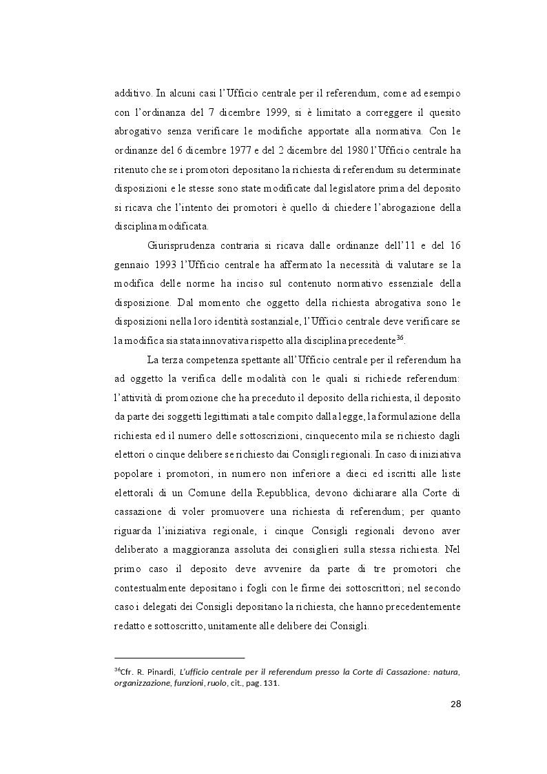 Anteprima della tesi: Il controllo sull'ammissibilità del referendum abrogativo e il rischio di un giudizio anticipato di legittimità costituzionale, Pagina 8
