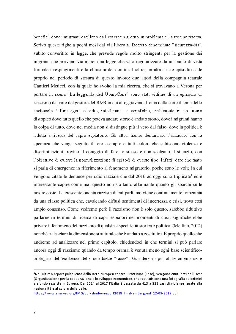 Anteprima della tesi: Sperimentare l'autoetnografia a teatro. Un percorso di ricerca qualitativa con i Cantieri Meticci a Bologna, Pagina 3
