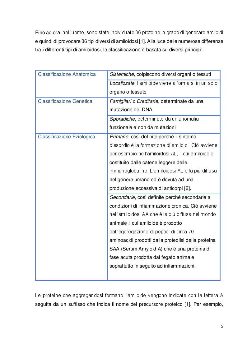 Anteprima della tesi: Analisi proteomica del tessuto renale di gatti abissini affetti da amiloidosi, Pagina 4