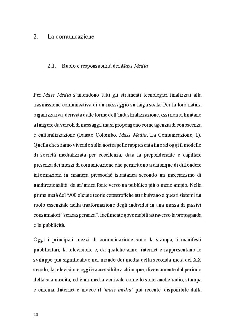 Anteprima della tesi: Fat Talk: il ruolo della comunicazione e le responsabilità dei Mass Media, Pagina 2