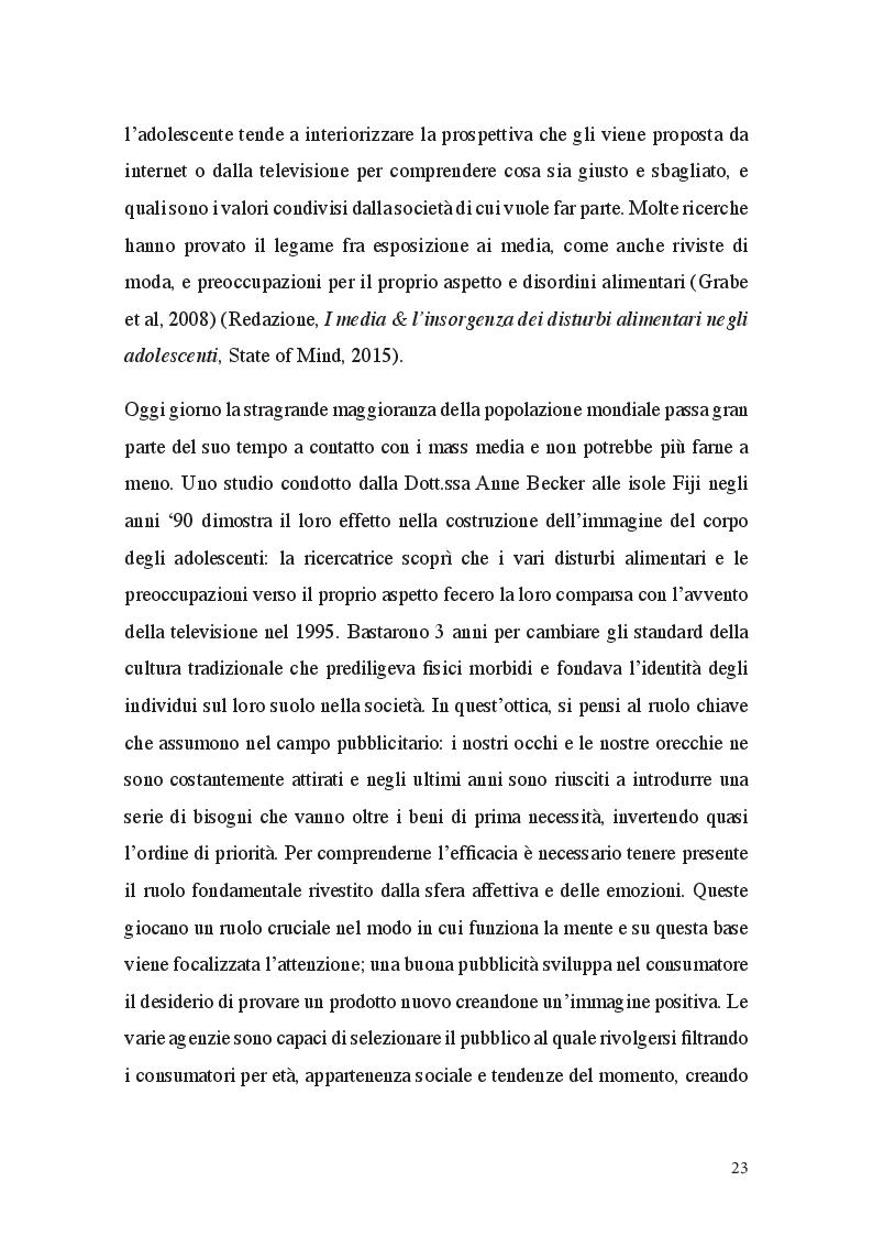 Anteprima della tesi: Fat Talk: il ruolo della comunicazione e le responsabilità dei Mass Media, Pagina 5
