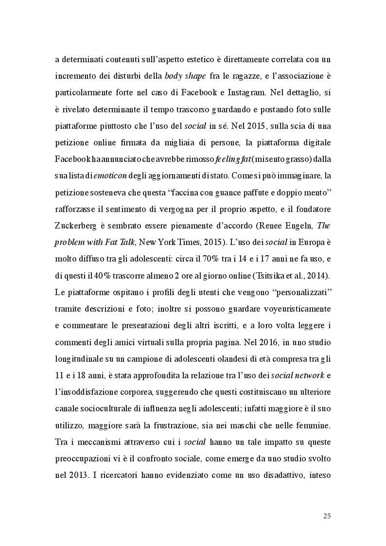 Anteprima della tesi: Fat Talk: il ruolo della comunicazione e le responsabilità dei Mass Media, Pagina 7