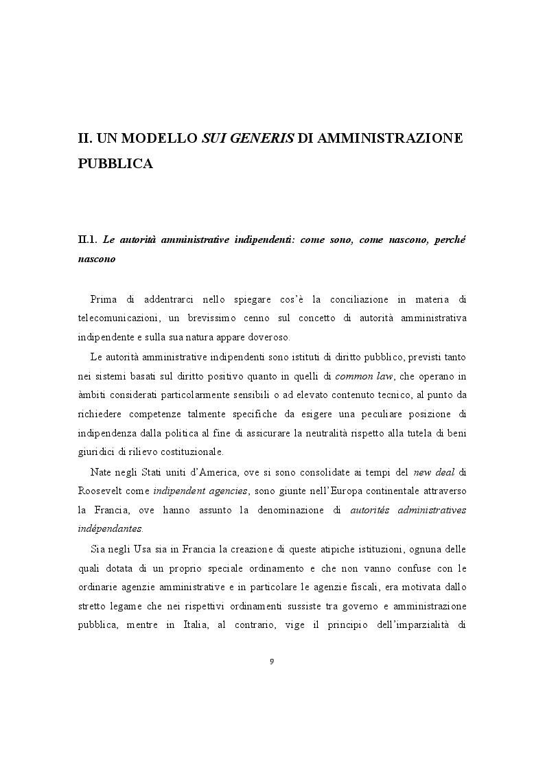 Anteprima della tesi: La conciliazione nei comitati regionali per le comunicazioni. Una buona prassi della P.A., Pagina 2