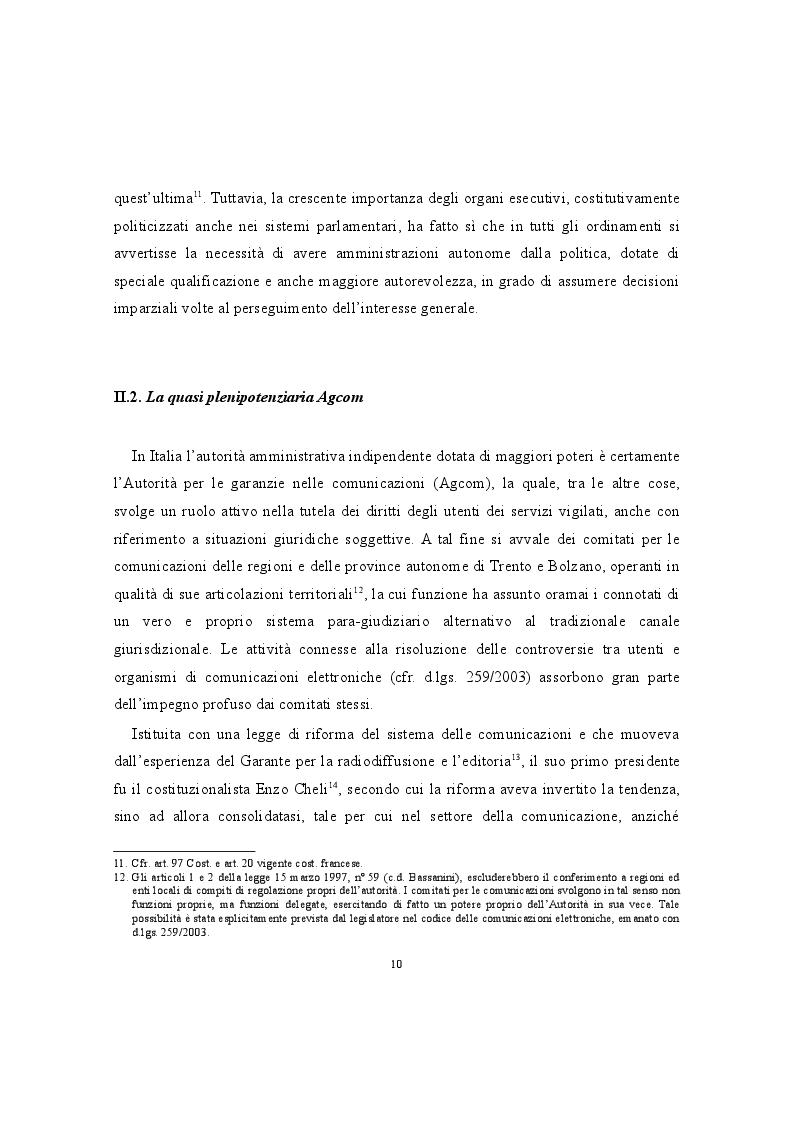 Anteprima della tesi: La conciliazione nei comitati regionali per le comunicazioni. Una buona prassi della P.A., Pagina 3