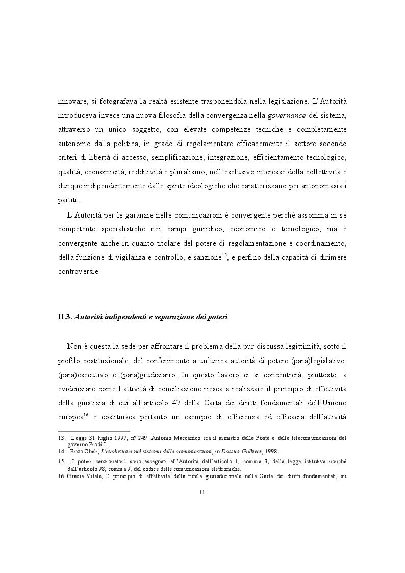 Anteprima della tesi: La conciliazione nei comitati regionali per le comunicazioni. Una buona prassi della P.A., Pagina 4