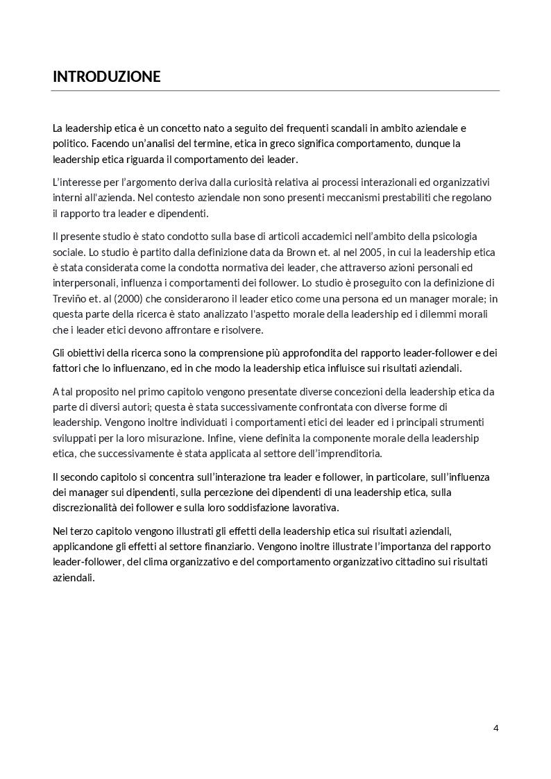 Anteprima della tesi: La Leadership Etica, Pagina 2