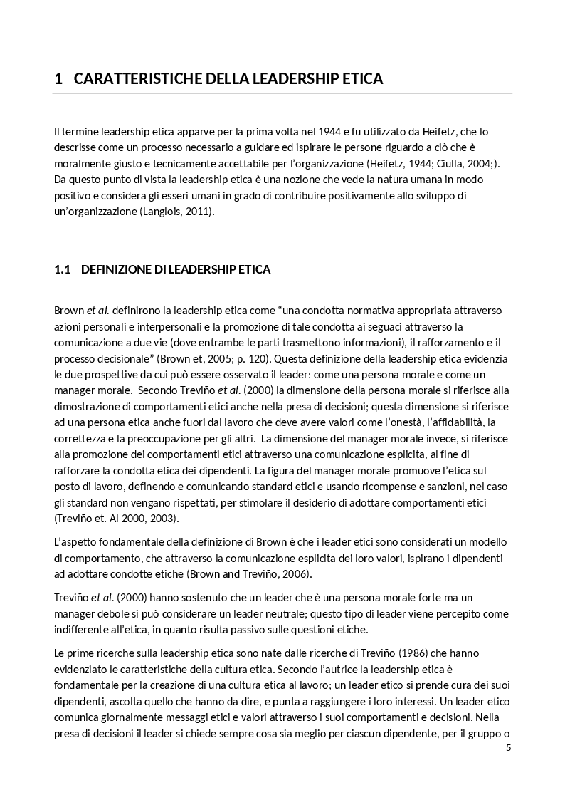 Anteprima della tesi: La Leadership Etica, Pagina 3