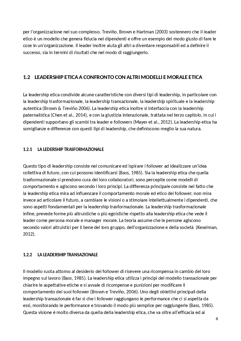 Anteprima della tesi: La Leadership Etica, Pagina 4