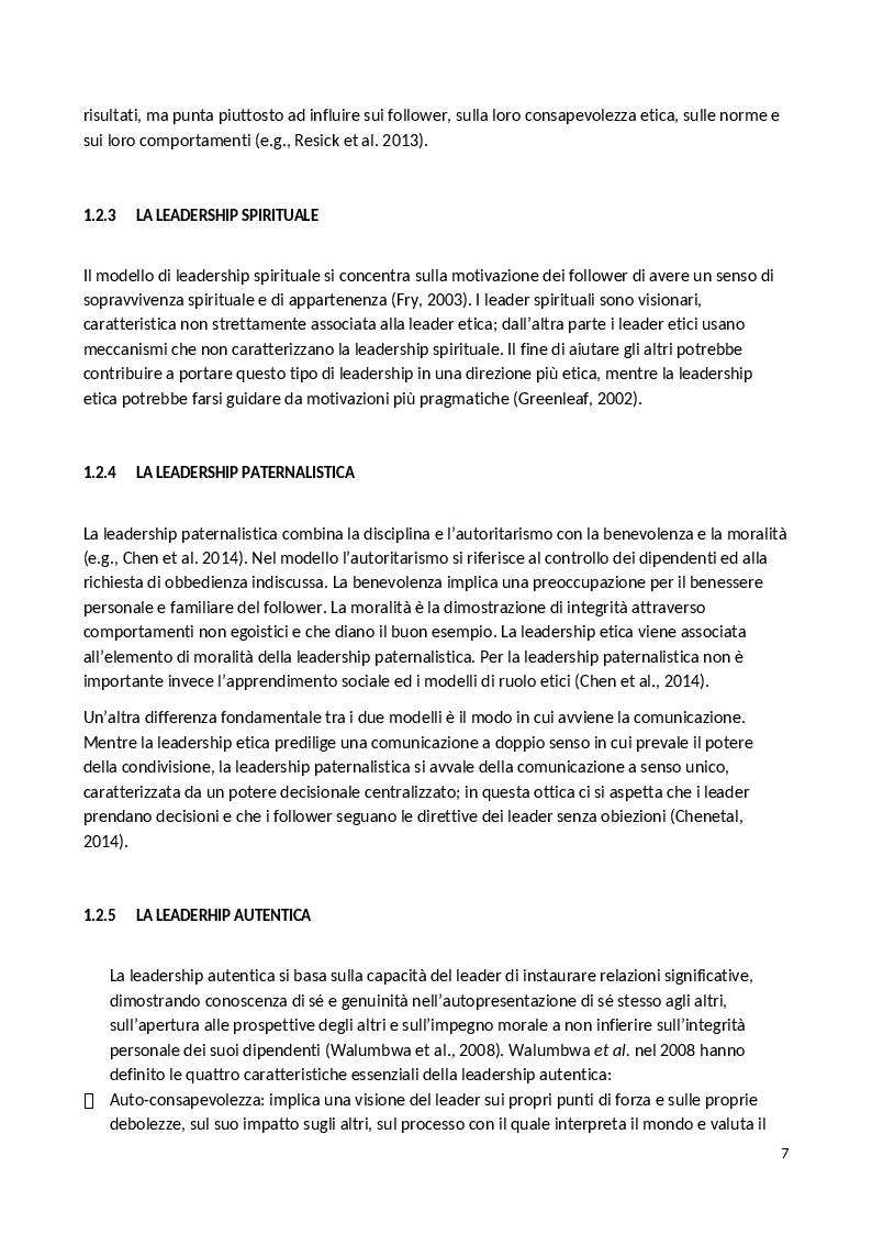 Anteprima della tesi: La Leadership Etica, Pagina 5