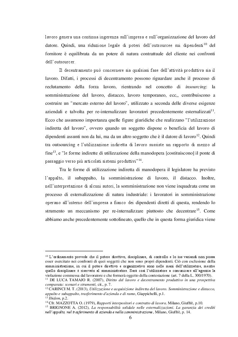 Anteprima della tesi: Il sistema delle tutele e il regime di responsabilità nei rapporti interpositori, Pagina 7
