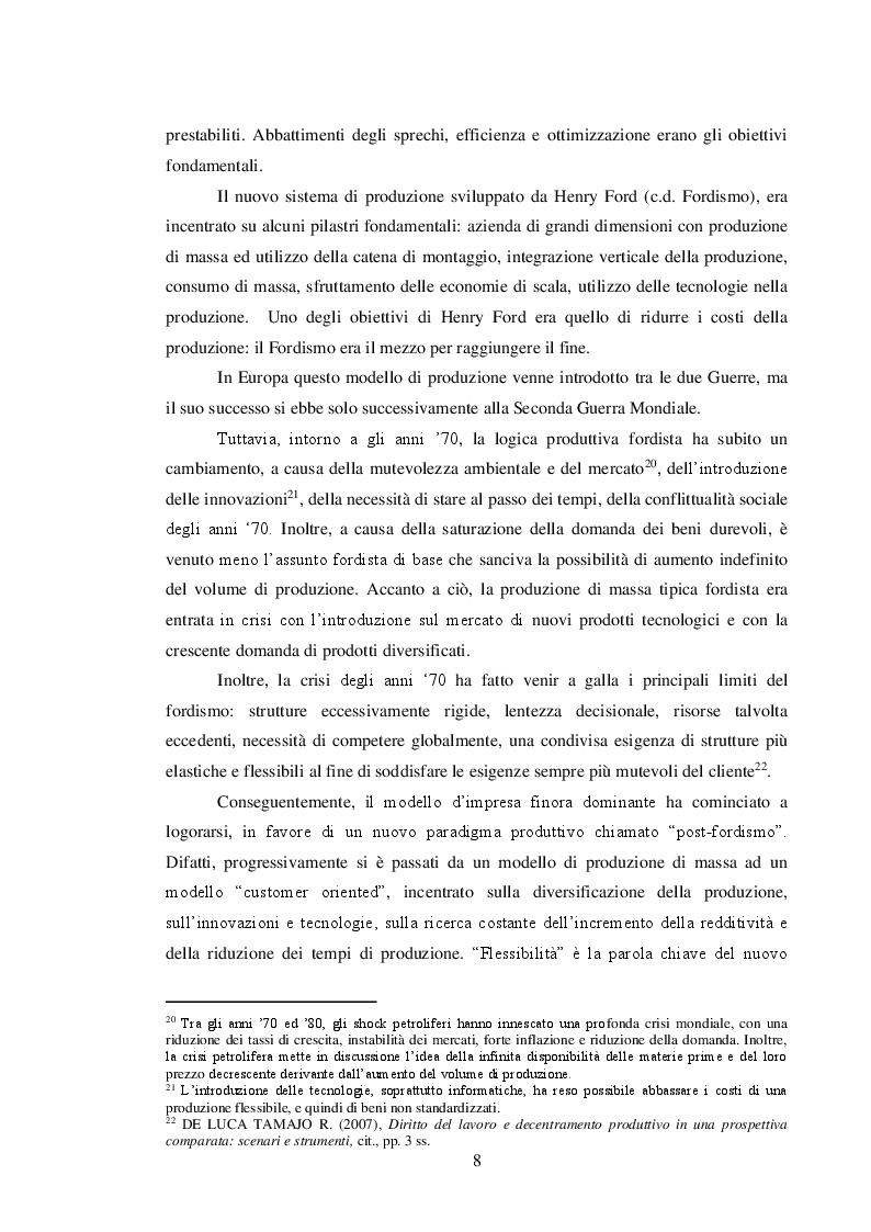 Anteprima della tesi: Il sistema delle tutele e il regime di responsabilità nei rapporti interpositori, Pagina 9