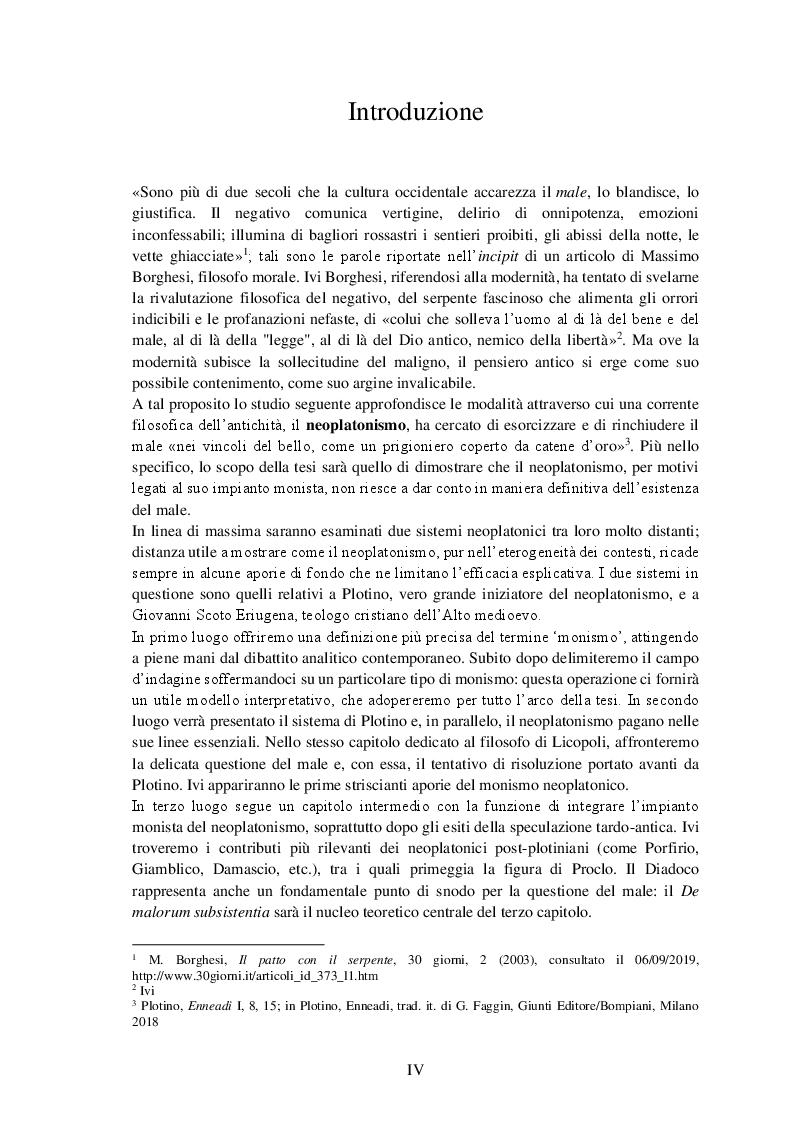 Anteprima della tesi: Il paradiso disabitato. Aporie e paradossi del monismo neoplatonico da Plotino a Eriugena, Pagina 2