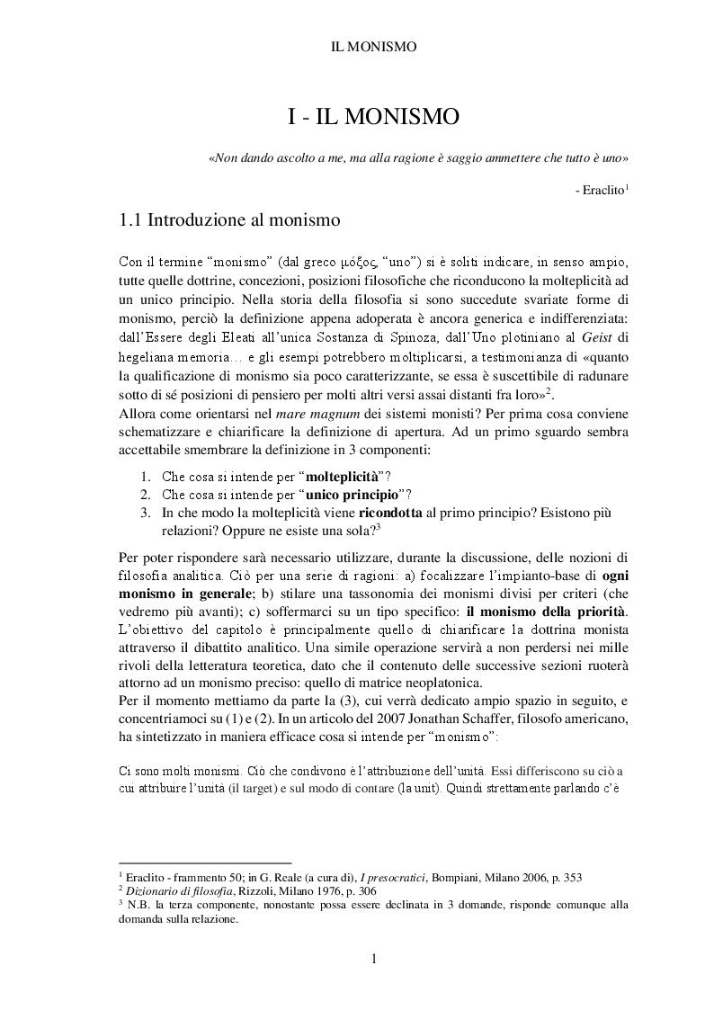 Anteprima della tesi: Il paradiso disabitato. Aporie e paradossi del monismo neoplatonico da Plotino a Eriugena, Pagina 4