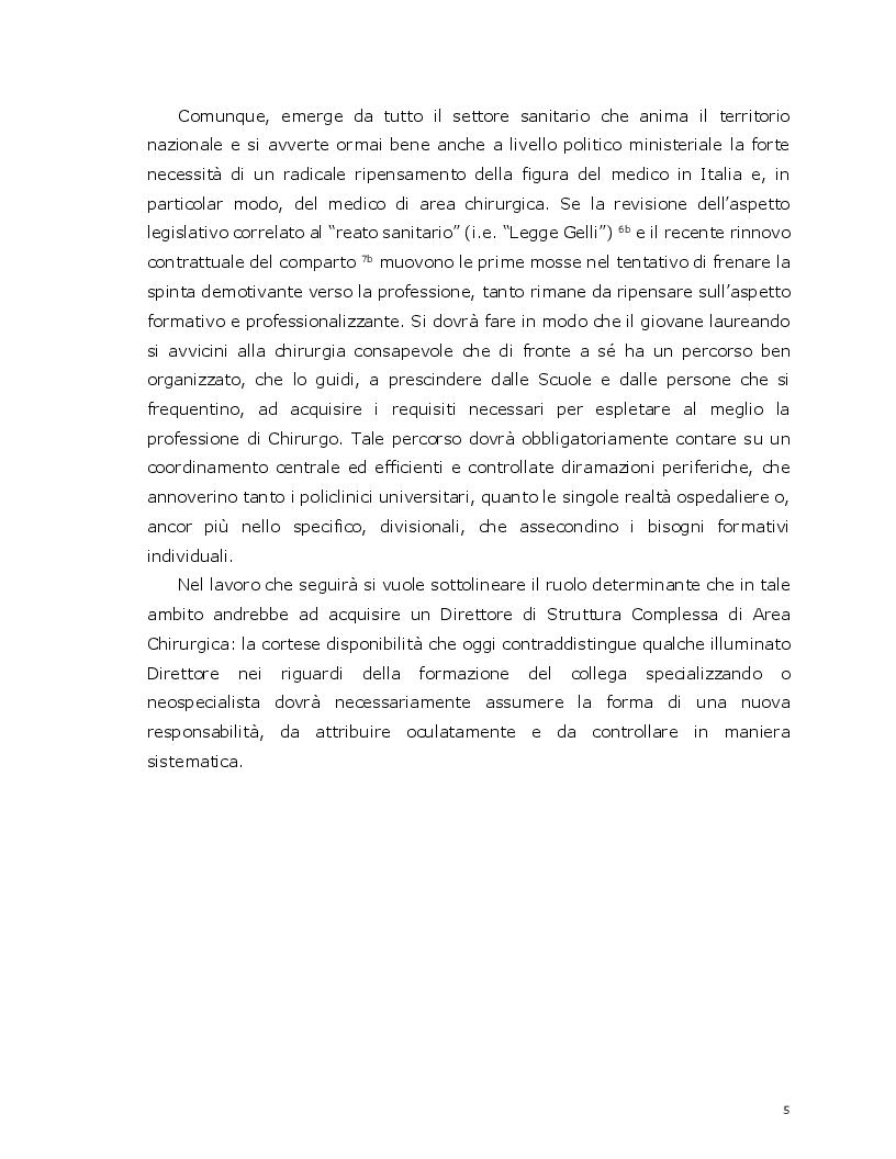 Anteprima della tesi: La ''formazione'' come nuova responsabilità per un direttore di struttura complessa di area chirurgica, Pagina 3