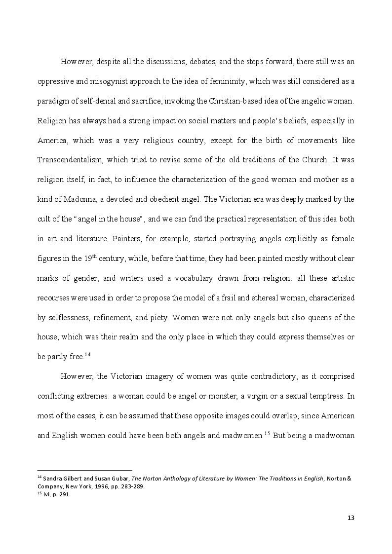 Anteprima della tesi: Self-Made Women - Catharine Maria Sedgwick and Fanny Fern, masters of women's independence, Pagina 3